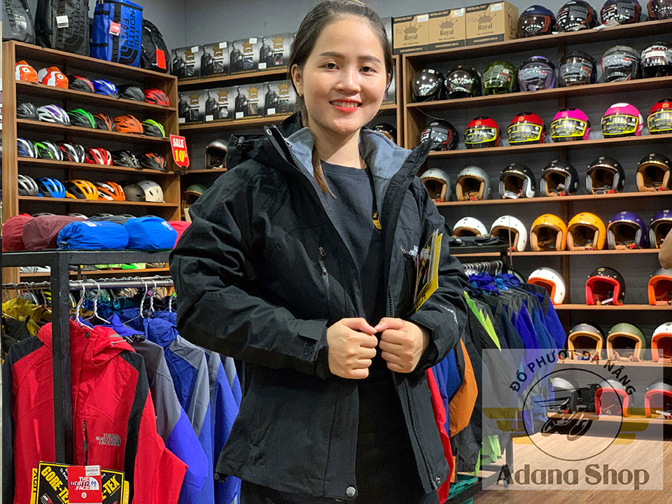 Áo The North Face 3 Lớp Đen Full